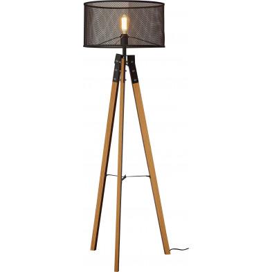 Lampadaire marron scandinave en acier L. 50 x P. 50 x H. 150 cm collection Wire