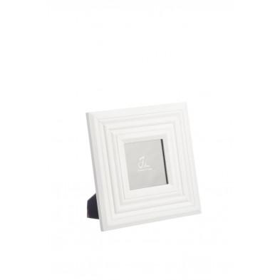 Cadre photos blanc en bois massif 23 x 23 cm collection Ermers