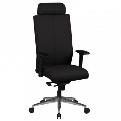 Chaise et fauteuil de bureau noir design en tissu L. 60 x P. 60 x H. 123 - 135 cm collection Chadwick