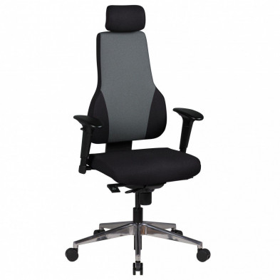 Chaise et fauteuil de bureau gris design en tissu L. 63 x P. 63 x H. 118 - 149 cm collection Sibbaldbie