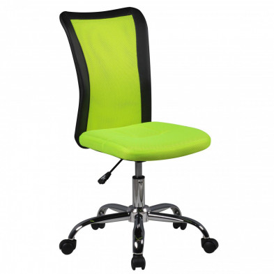 Chaise enfant Vert Design en PVC L. 42 x P. 42 x H. 90 - 100 cm collection Kracht