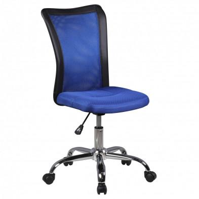 Chaise enfant Bleu Design en PVC L. 42 x P. 42 x H. 90 - 100 cm collection Kracht
