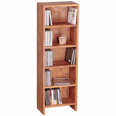 Bibliothèque marron contemporain en bois massif L. 30 x P. 17 x H. 90 cm collection Oving