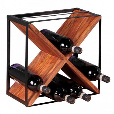 Autres objets déco marron design en bois massif L. 20 x P. 20 x H. 37 cm collection Oving