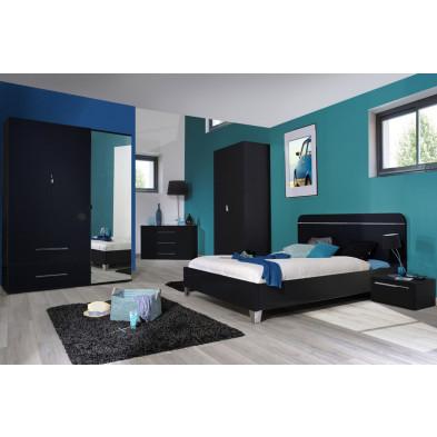 Chambre adulte complète argenté moderne en collection Oakes