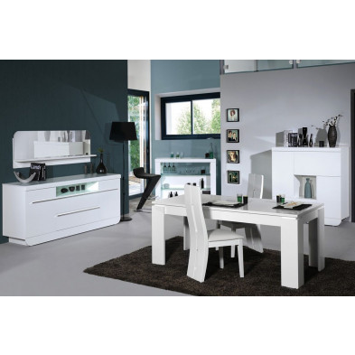 Salle à manger complète blanc design en collection Jessie