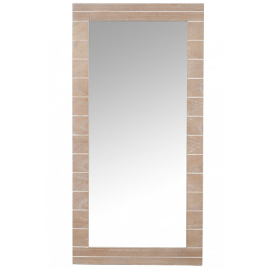 Miroir marron moderne en bois massif 60 x 120 cm collection Foggathorpe
