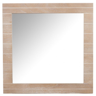 Miroir marron en bois massif 72 x 72 cm collection Drunk