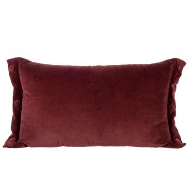 Coussin et oreiller rouge en 50 cm de largeur collection Zamayon