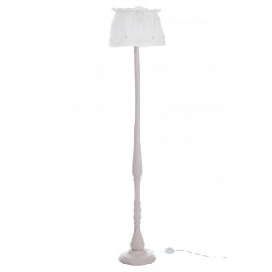 Lampadaire blanc en bois massif 159 cm collection Pozzonovo
