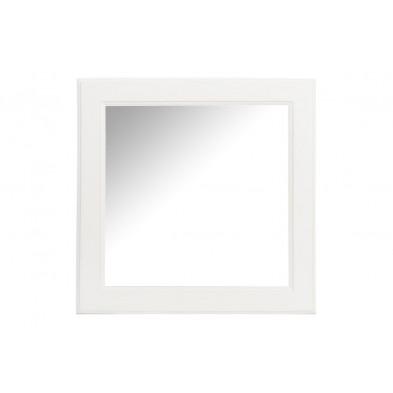 Miroir blanc classique en bois massif 50 x 50 cm collection Sita