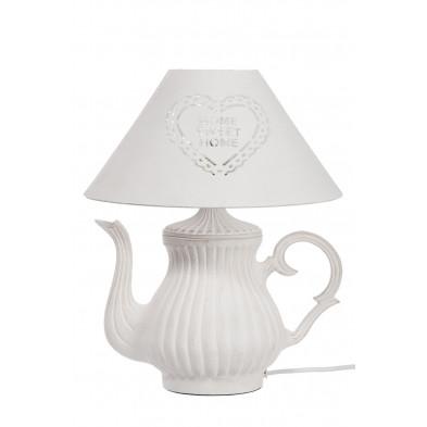 Lampe à poser blanc 30 x 36 cm en collection Roccaranieri