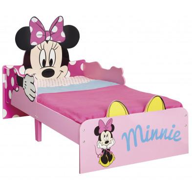 Lit petit enfant design 70x140 cm  Minnie Mouse coloris rose collection Armadale