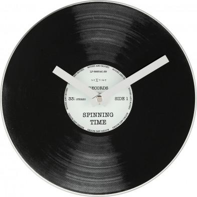 Horloge à poser noir en  verre collection Bucken