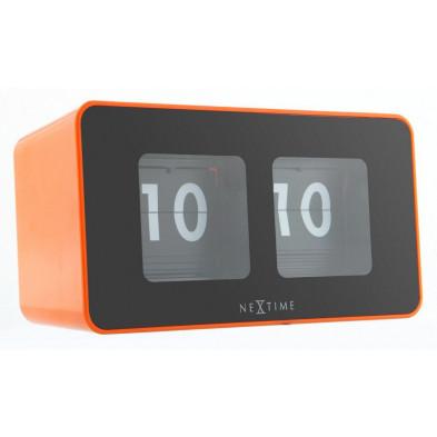 Horloge à poser orange design en plastique 9 x 17,5 cm   collection Ezkioitsaso