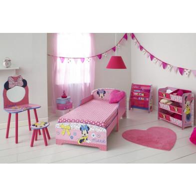 """Composition chambre enfant thème """"Minnie Mouse"""" coloris rose collection Armadale"""