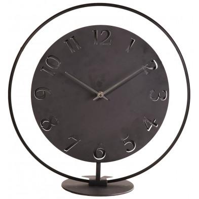 Horloge à poser noir en acier 41 x 40 cm collection Schonecken