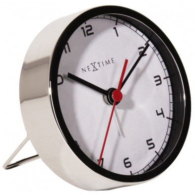 Horloge à poser blanc en acier collection Lawrenny