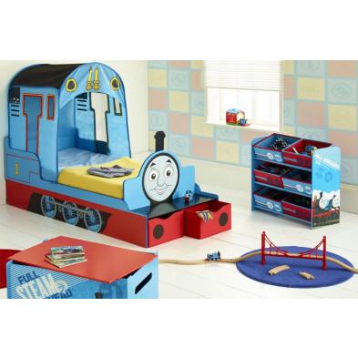 """Composition chambre enfant thème """"Thomas le train"""" coloris rouge et bleu collection Charona"""