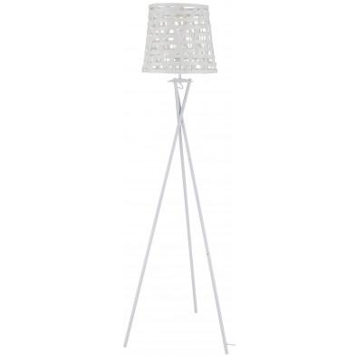 Lampadaire trépied en acier coloris blanc L. 51 x P. 45 x H. 164 cm collection Plumptonend