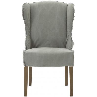 Lot de 2 fauteuils au style contemporain  en tissu et bois de chêne coloris marron clair L. 65 x P. 74 x H. 105 cm collection Thoughtful