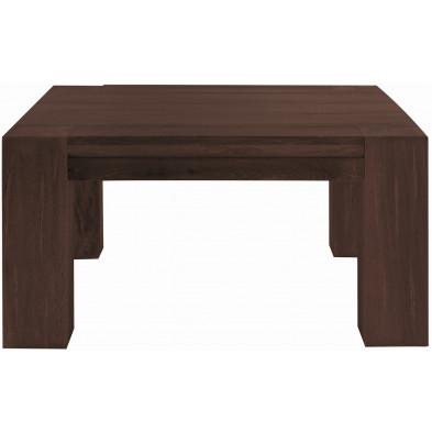 Table basse rustique en bois de chêne massif coloris marron antique L. 90 x P. 90 x H. 47 cm collection Membury