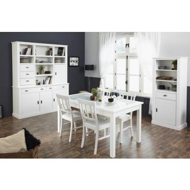 Salle à manger complète contemporaine en blanc Collection Athis