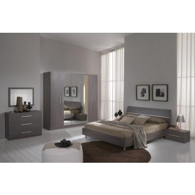 Chambre adulte complète gris contemporain collection Helgoland