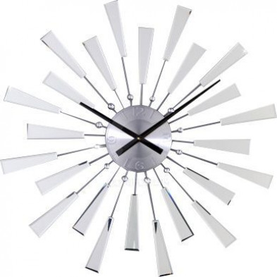 Horloge murale90 cm avec miroir et finitions en cristal collection Aspiring