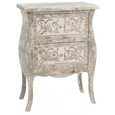 Rangement marron baroque en bois massif 67.5 x 36.5 x 92 cm collection Espeluy