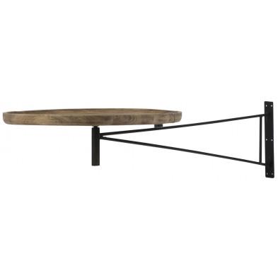 Table basse en bois marron contemporain en acier 55 x 55 x 80 cm collection Racette