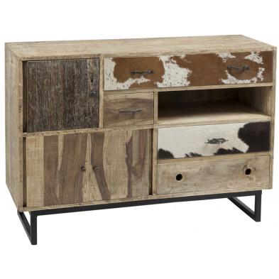 Rangement multicouleur vintage en bois massif 115 x 40 x 80 cm collection Lumbier