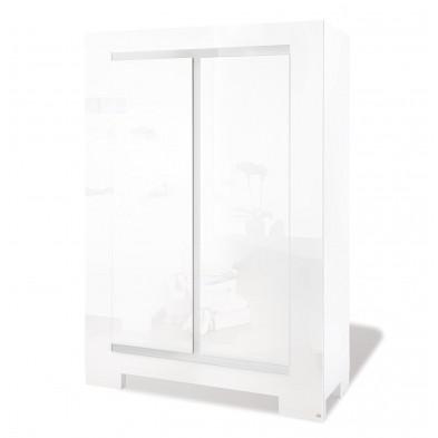 Armoire enfant design blanc en bois mdf L.120 x P.55 x H.175 cm Collection Commezzadura