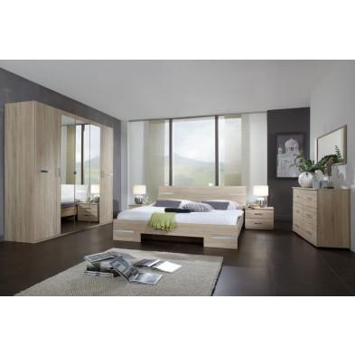 Chambre adulte complète marron contemporain collection Niederrasen