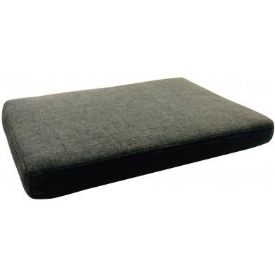 Coussin d'assise design coloris gris  L. 50 x P. 35 x H. 5 cm collection Carmelo