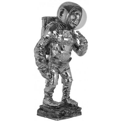 objet de décoration design singe astronaute  en polyrésine, L. 23 x P. 18 x H. 48.5 cm  collection Monkey Richmond Interiors Richmond Interiors