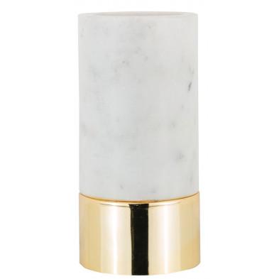Bougeoirs et chandeliers coloris blanc et or design en acier et marbre, L. 9 x P. 9 x H. 18.5 cm collection Morton Richmond Interiors Richmond Interiors