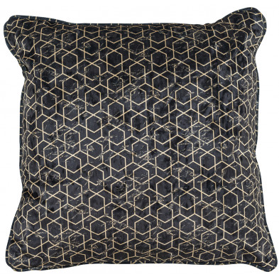 Coussin et oreiller noir et or design en polyester, L. 45 x P. 45 cm  collection Jezz Richmond Interiors Richmond Interiors