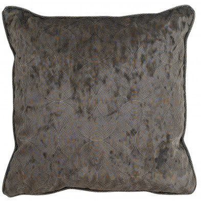 Coussin et oreiller noir et or design en polyester, L. 45 x P. 45 cm  collection Jacen Richmond Interiors Richmond Interiors