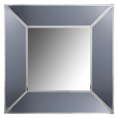Miroir argenté design en bois mdf et miroir, L. 95 x P. 5 x H. 95 cm  collection Blaed Richmond Interiors Richmond Interiors