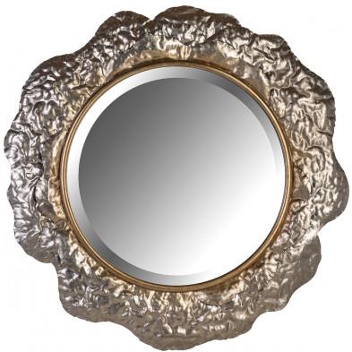 Miroir or design en bois mdf et miroir, L. 79 x P. 3.5 x H. 79 cm  collection Chadd Richmond Interiors Richmond Interiors