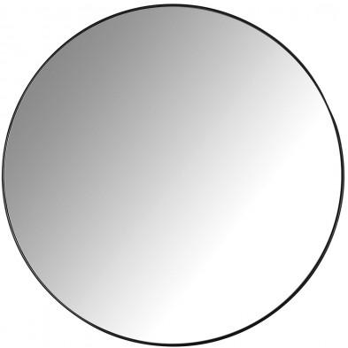 Miroir noir design en fer forgé et miroir, L. 60 x P. 3 x H. 60 cm  collection Jazzey Richmond Interiors Richmond Interiors