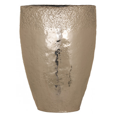 Vase design en aluminium coloris or collection Boley L. 37 x P. 17 x H. 50.5 cm Richmond Interiors Richmond Interiors