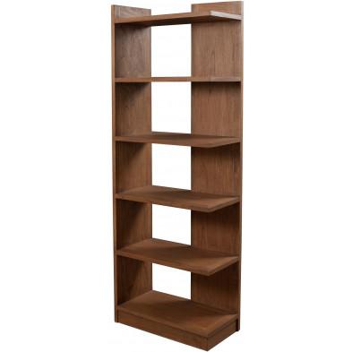 Bibliothèque marron contemporain en bois contreplaqué L. 65 x P. 32 x H. 184 cm collection Physical