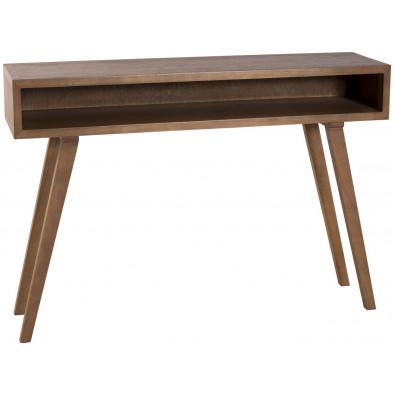Consoles marron contemporain en bois contreplaqué L. 115 x P. 30 x H. 81 cm collection Physical