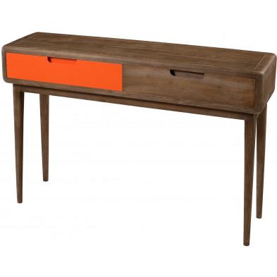 Consoles marron contemporain en bois contreplaqué L. 110 x P. 30 x H. 76 cm collection Montione