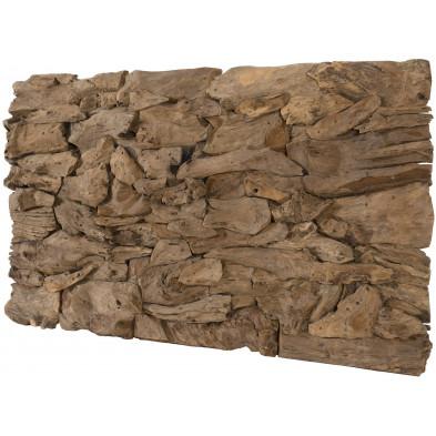 Toiles et tableaux marron rustique en bois massif teck L. 150 x P. 80 x H. 10 cm collection Oldenburger