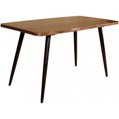 Table de salle à manger rustique en bois massif sheesham L. 140 x P. 70 x H. 76 cm collection Remain