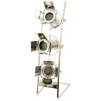 Lampadaire gris vintage en acier L. 31.5 x P. 26 x H. 85 cm collection Lolkje