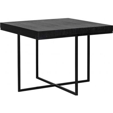 Table d'appoint noir contemporain en acier  L. 60 x P. 60 x H. 46 cm  collection BLACK Richmond Interiors